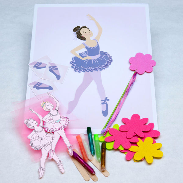 ballerina birthday party games, ballerina craft