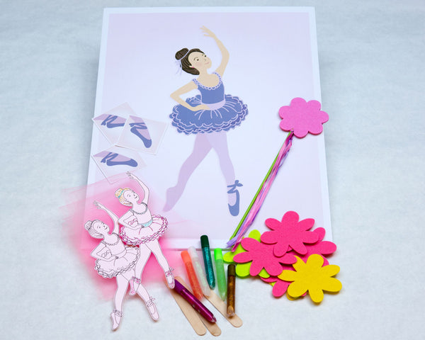 ballerina birthday party craft