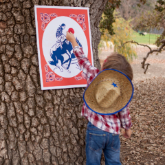 Party Game: Pin the Hat on the Cowboy