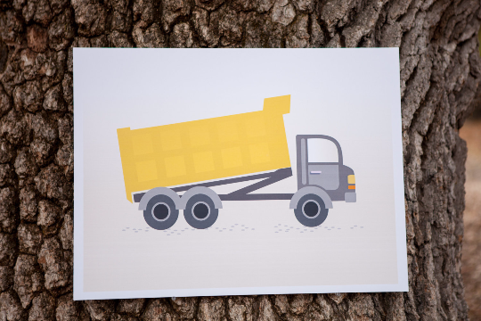 Pin the Boulder on the Dumptruck