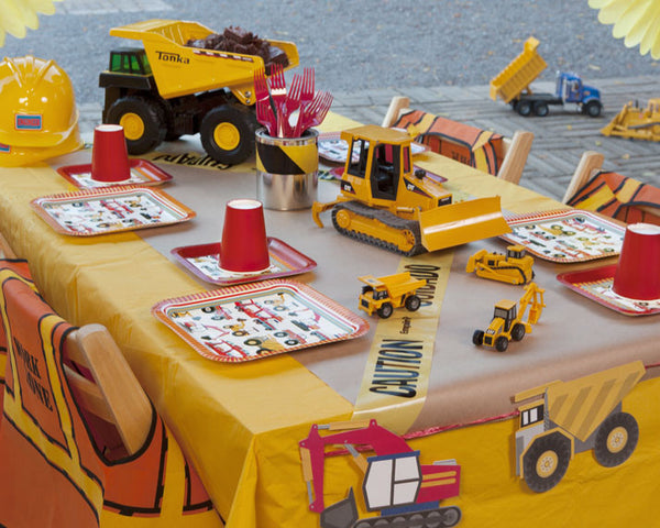 Construction Birthday Party Tableware & Decor