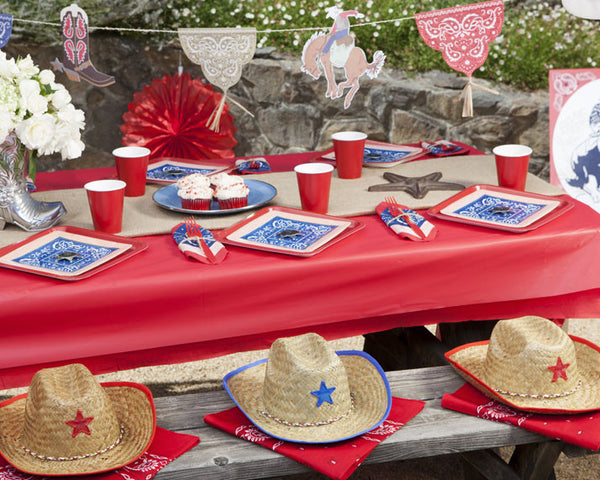 Cowboy Birthday Party Tableware & Decor