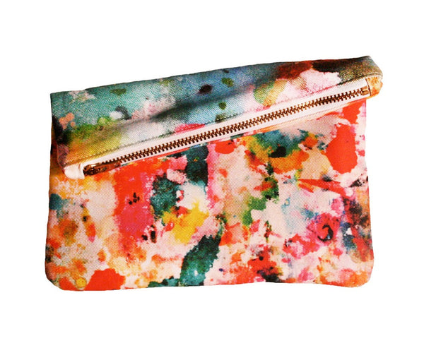 Art Pop Mini Zipper Clutch