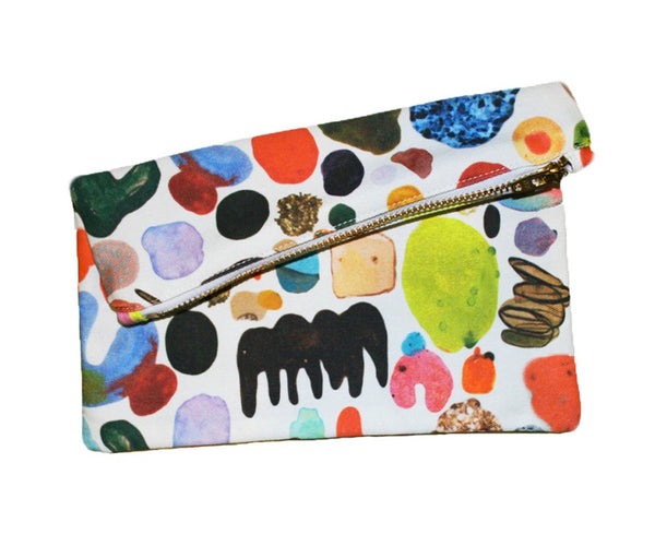 Abstract Art Mini Zipper Clutch