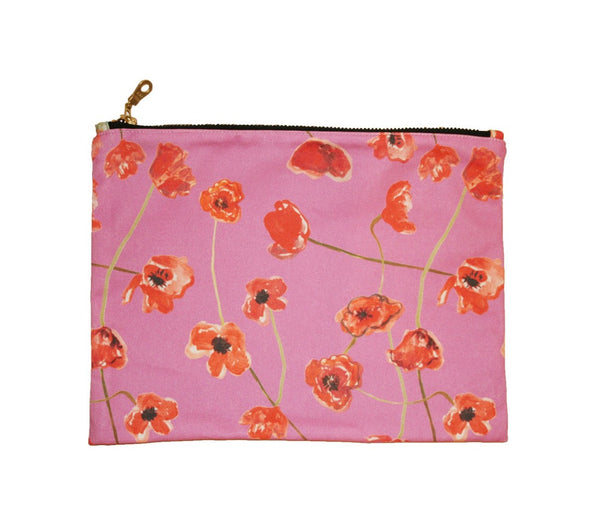Poppies Medium Clutch