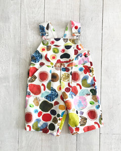 Pre-Order: Abstract Linen Overalls