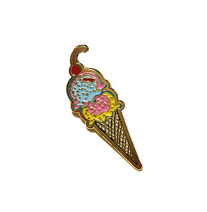 Ice Cream Cone Pin (With A Cherry On Top)