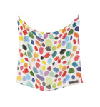 Palette Patterned Silk Scarf