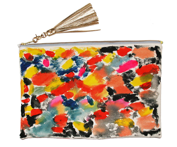 Super Duper Big Hand Painted Clutch