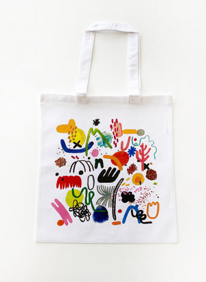 Blob Party Tote Bag