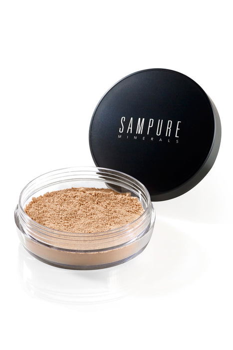 Sampure Minerals Golden – Instant Glow Mineral Loose Setting Powder – Pudra 4.5 g