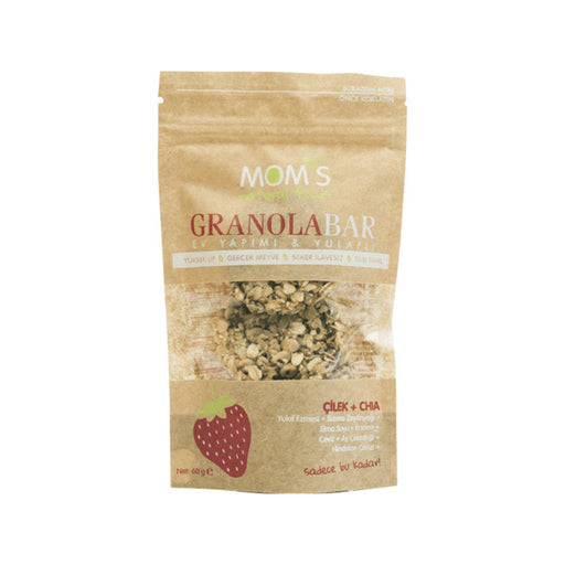 Mom's Granola Bar 60 g/ Çilek ve Chia