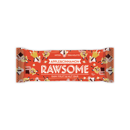 Rawsome Apple Cinnamon Bar 50 g 1 kutu-12 adet