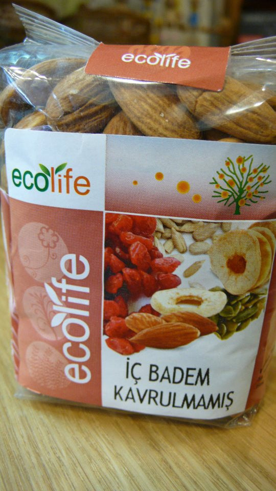 Ecolife Naturel Çiğ Badem 250 g.