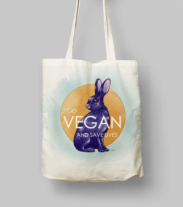 GO VEGAN AND SAVE LIVES Bez Çanta