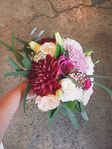 rustic wedding bouquet, wedding florist, wellington