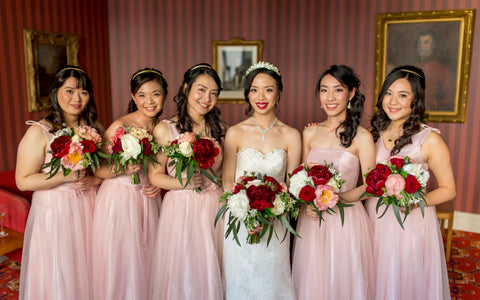 Bridesmaid peony wedding florist flowers Wellington