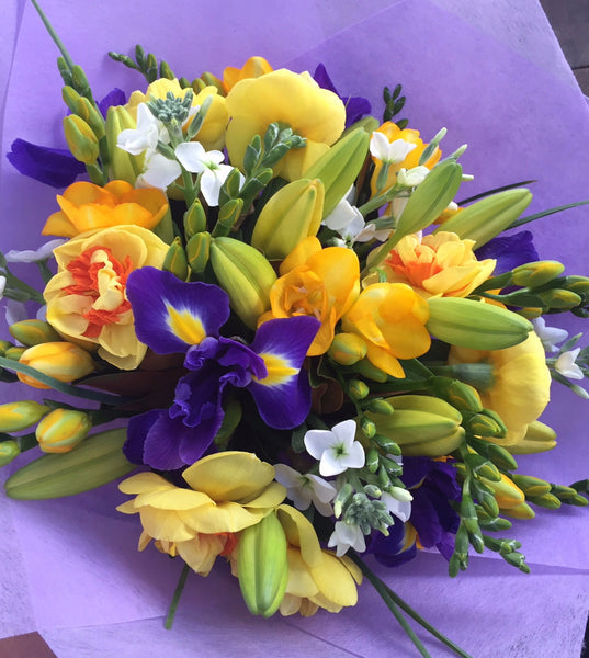 spring flowers, spring bouquet, bright, wellington cbd