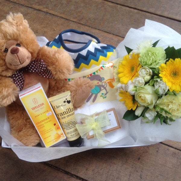 New Baby Hamper Delivery Wellington Wide NZ Bunch of Flowers Delivered Juliette Florist Baby Boy Baby Girl