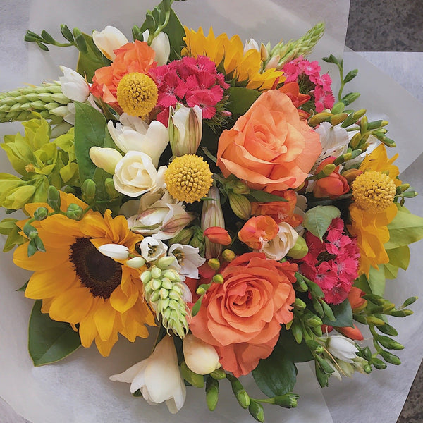wellington flower delivery bright bouquet