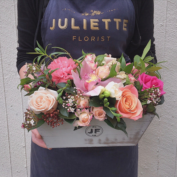 Gorgeous Florals in Vintage Crate