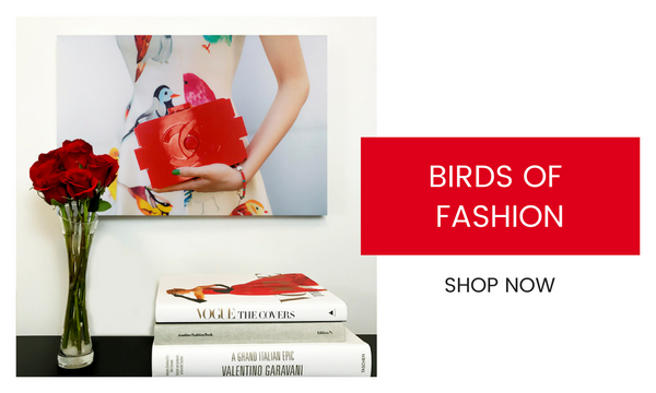 Fashion Wall Art - Birds of Fashion - Recoveted