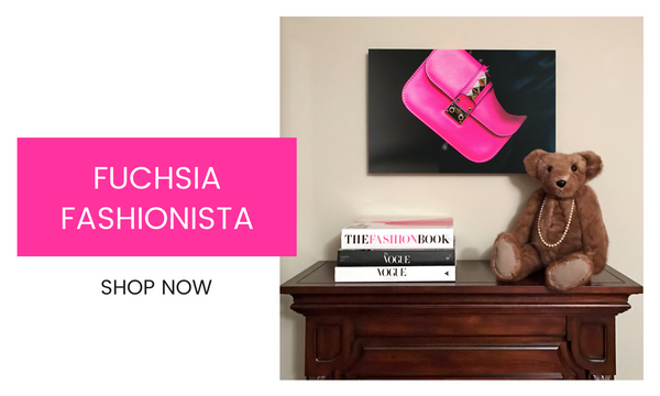 Fashion Wall Art - Fuchsia Fashionista - Recoveted