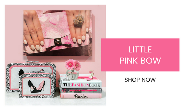 Fashion Wall Art - Little Pink Bow - Recoveted