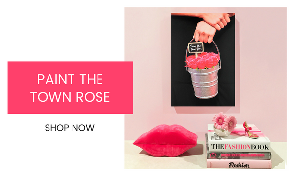 Fashion Wall Art - Paint the Town Rose - Recoveted