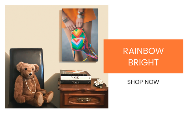 Fashion Wall Art - Rainbow Bright - Recoveted