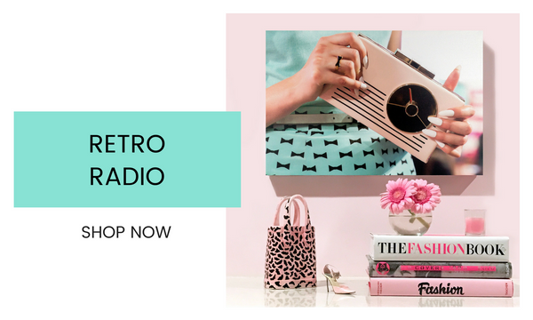 Fashion Wall Art - Retro Radio - Recoveted