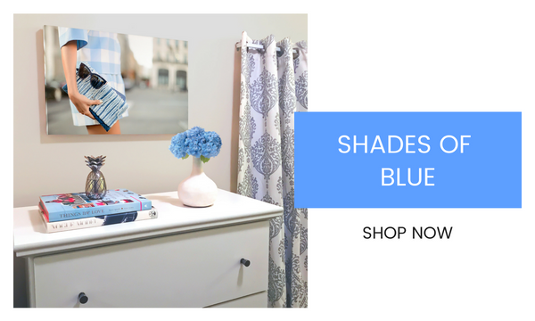 Fashion Wall Art - Shades of Blue - Recoveted