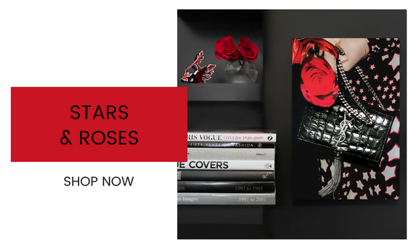 Fashion Wall Art - Stars & Roses - Recoveted
