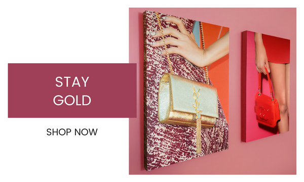 Fashion Wall Art - Stay Gold - Recoveted