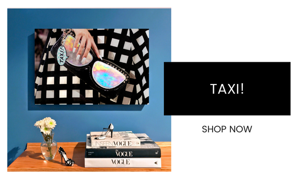 Fashion Wall Art - Taxi! - Recoveted