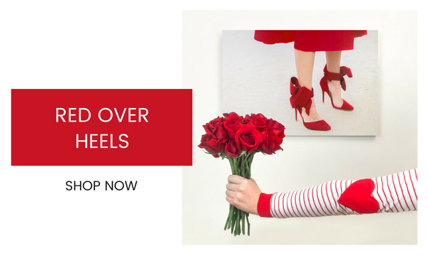 Fashion Wall Art - Red Over Heels - Recoveted