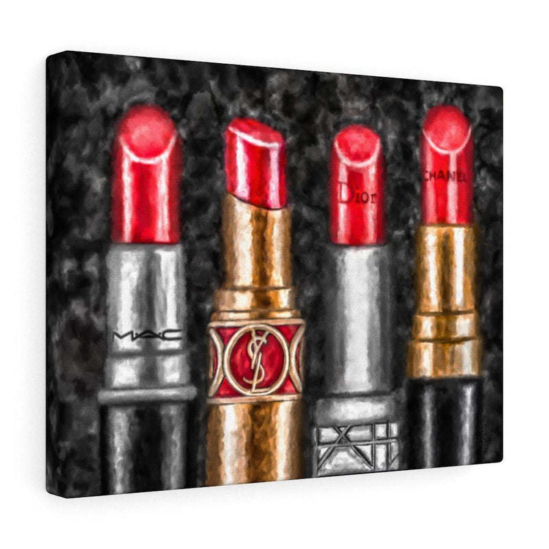 Lipstick Luxe (Red) | Canvas Art