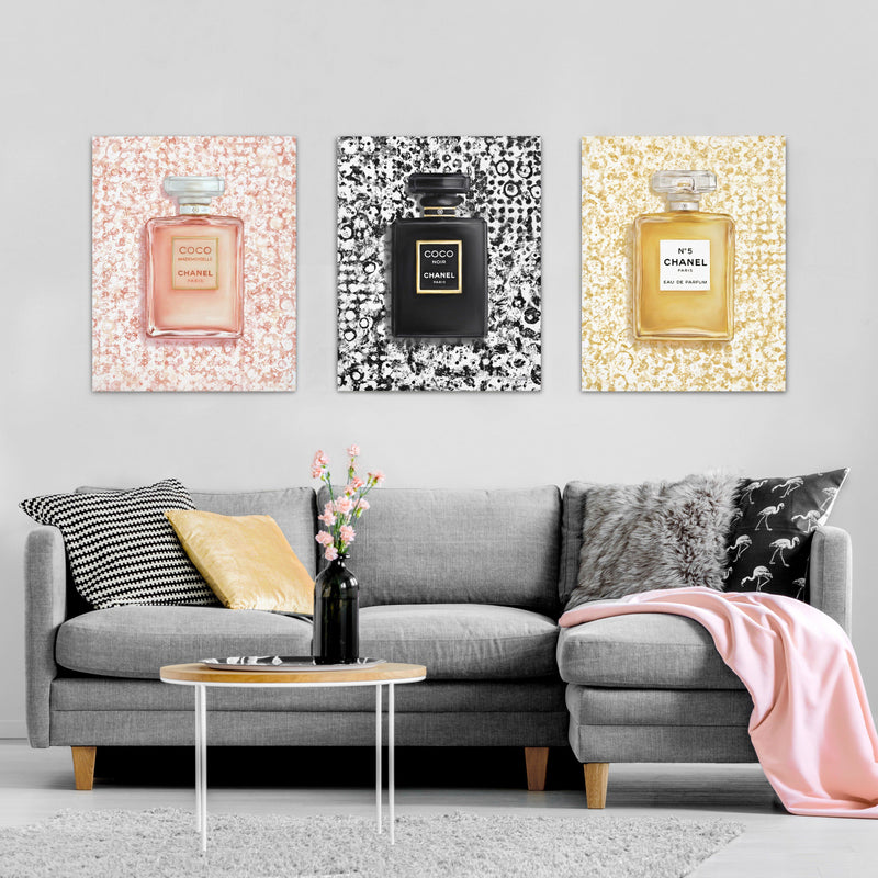 French Fragrances | Canvas Art (Set of 3)
