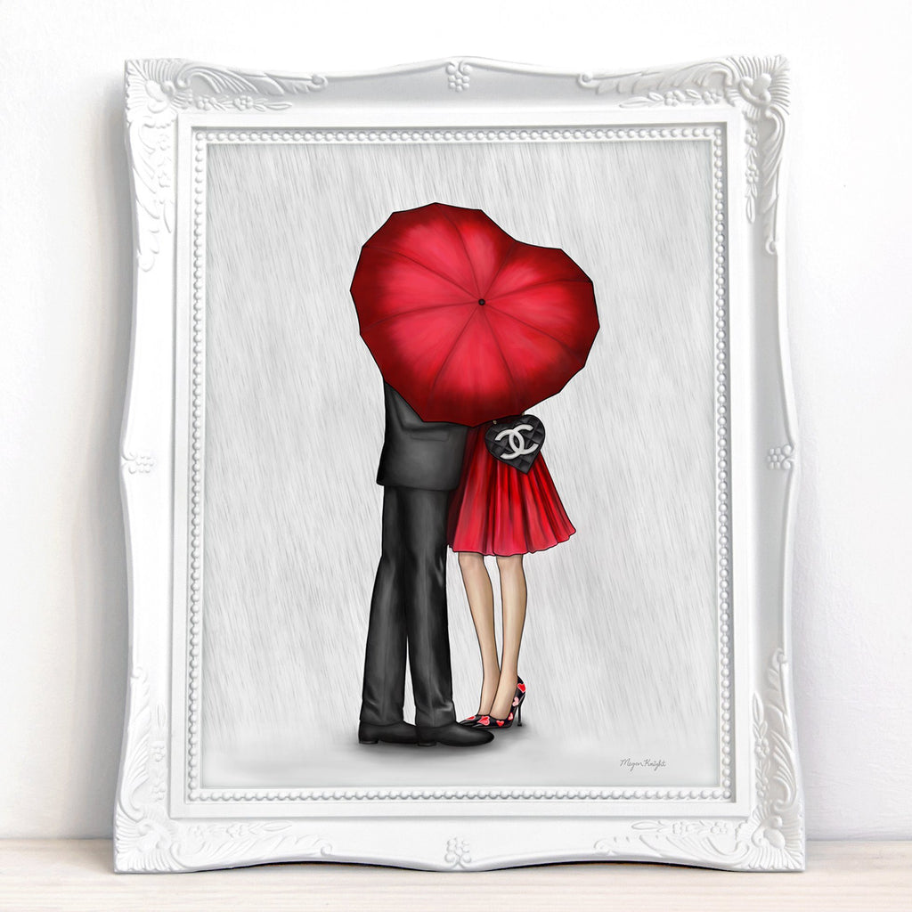 Raining Love (Red) | Fine Art Print