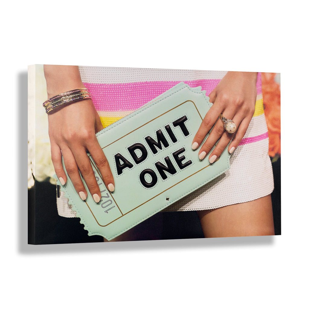 Admit One - RECOVETED - Fashion Art Prints