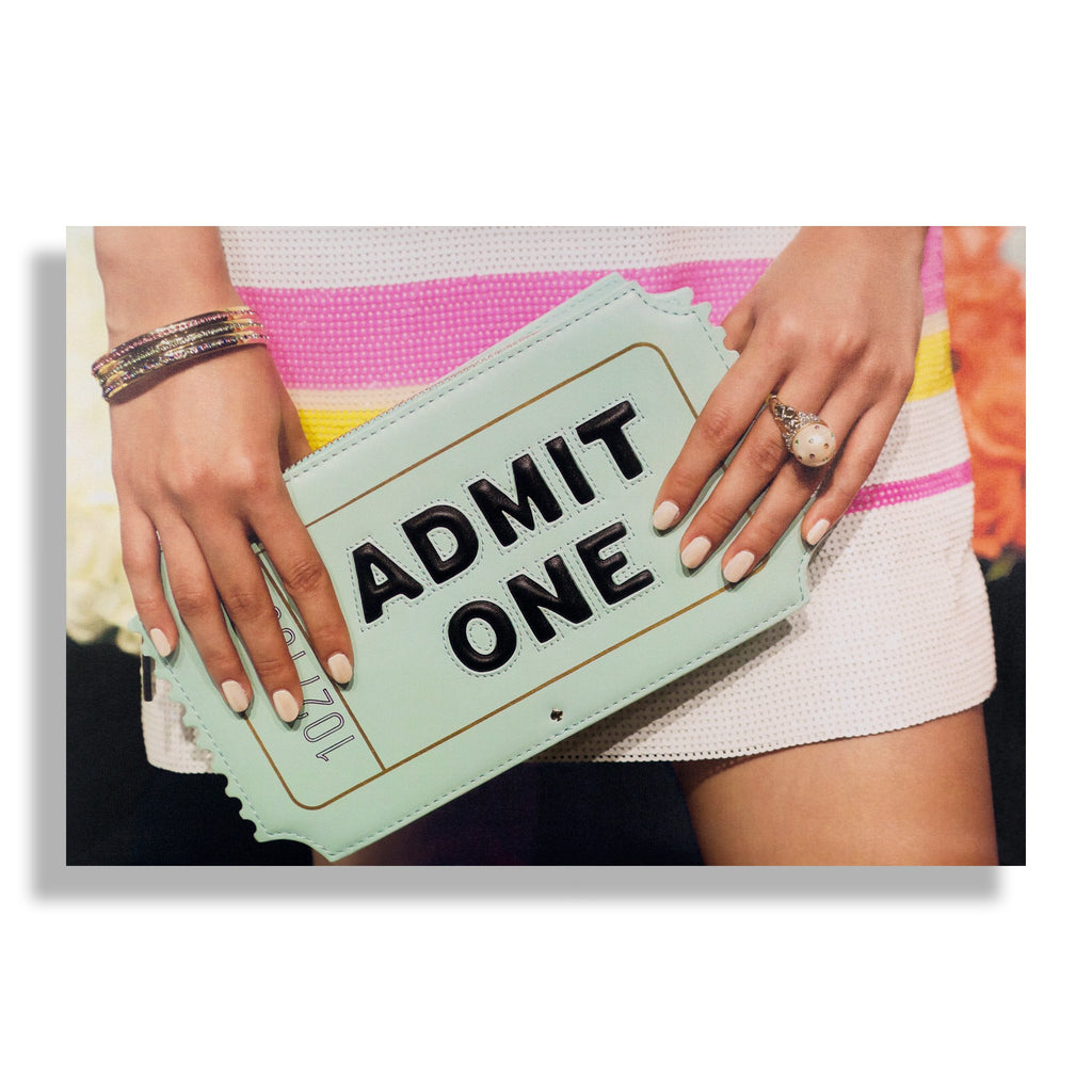 Fashion Canvas Art Print - Admit One by Recoveted