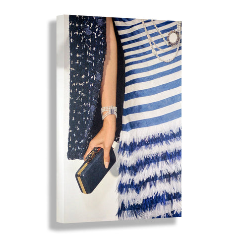 Blue Striped | Fashion Art Print