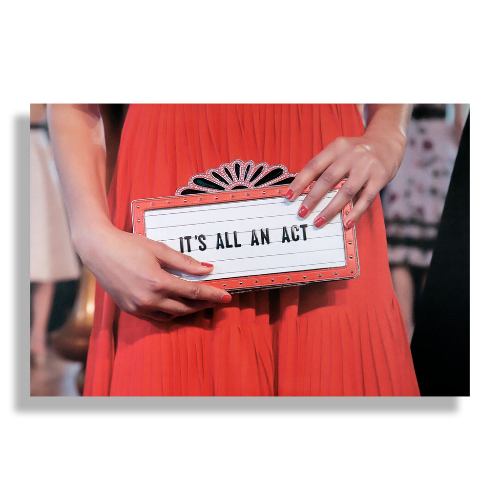 It's All An Act | Fashion Art Print - RECOVETED - Fashion Art Prints