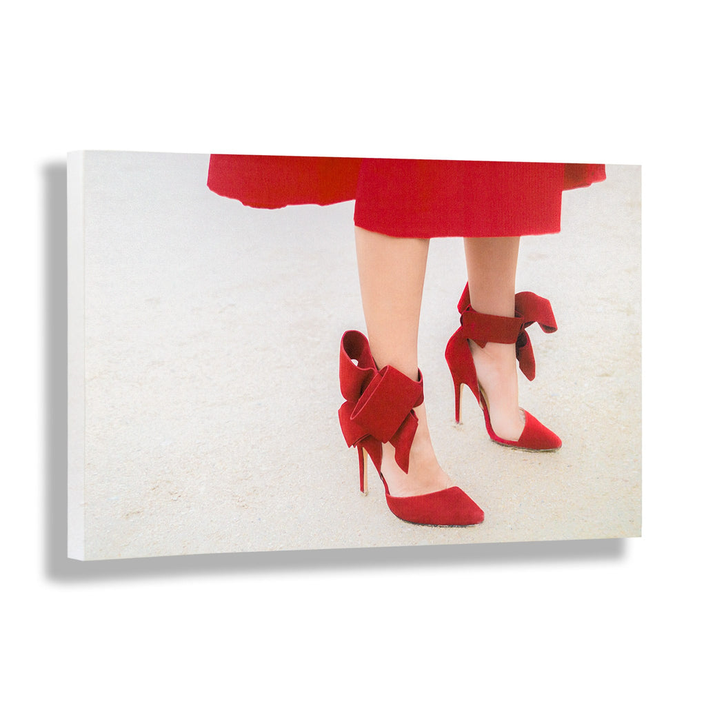 Red Over Heels | Fashion Art Print - RECOVETED - Fashion Art Prints