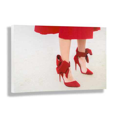 Red Over Heels | Fashion Art Print