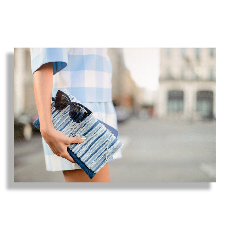 Shades of Blue | Fashion Art Print - RECOVETED - Fashion Art Prints
