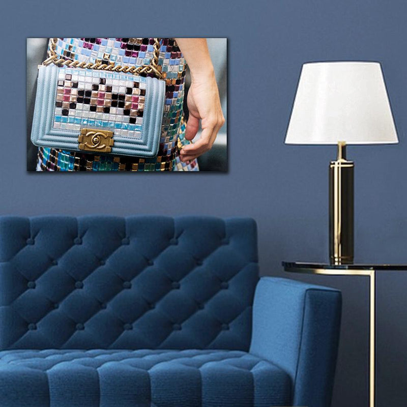 Recoveted- Fashion Wall Art - Fashion Tetris - Blue Sofa