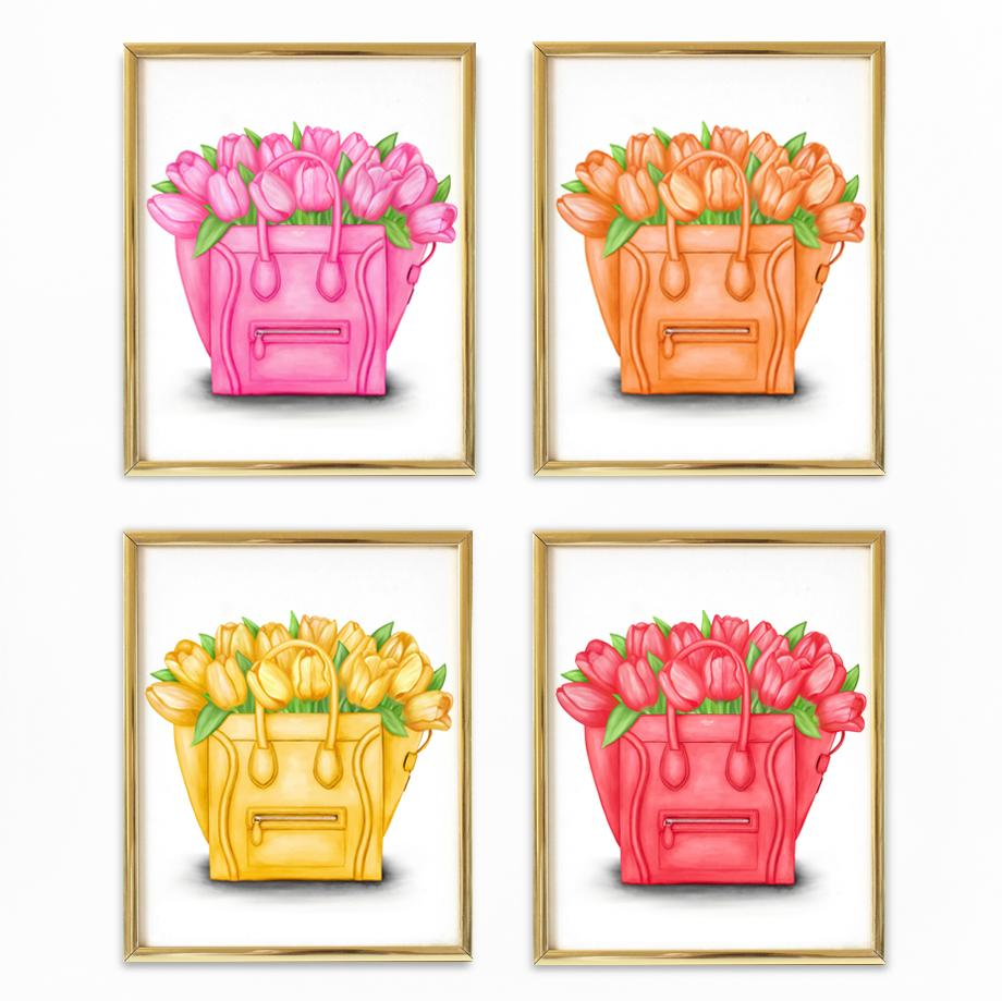 Tulip Totes | Fine Art Prints (Set of 4)