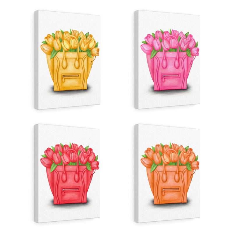 Tulip Totes (Set of 4) | Canvas Art
