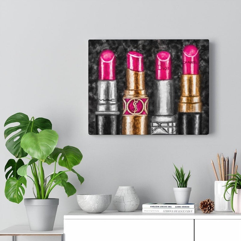 Lipstick Luxe (Pink) | Canvas Art